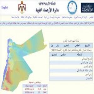 الدليل العربي-دائره الارصاد الاردنيه  .